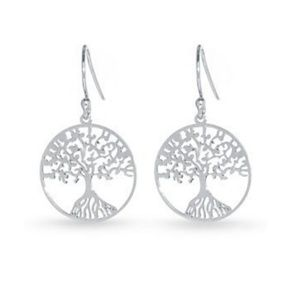 Small sterling Tree of Life earrings